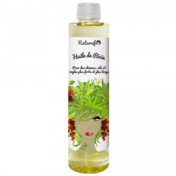 Huile de ricin cheveux (huile de castor)