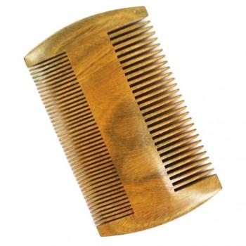 Peigne à barbe au bois de santal, antistatique et à double face