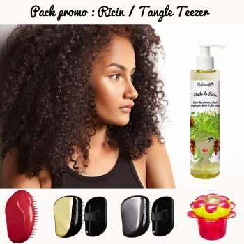 Pack promo : Huile de ricin cheveux et brosse tangle teezer