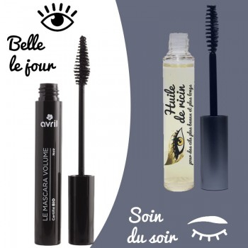 Offre duo mascaras jour & nuit - Avril waterproof / Naturafro