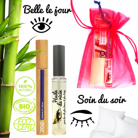 Huile de ricin pour les cils et mascara bio en bambou