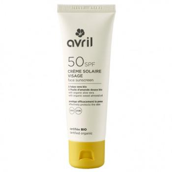 Crème solaire visage SPF 50 50 ml - bio à l'huile de ricin