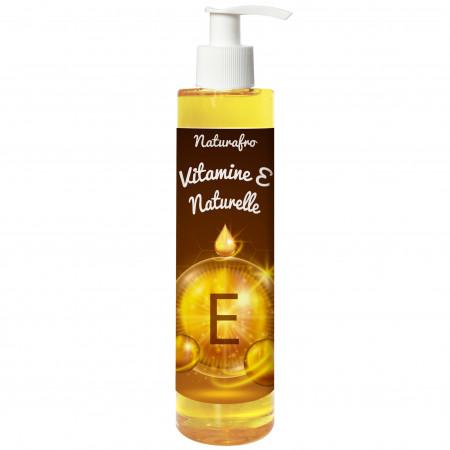 Huile vitamine E, bouchon pompe très pratique