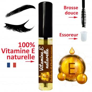 Huile vitamine E naturelle, en format mascara pour des cils plus forts