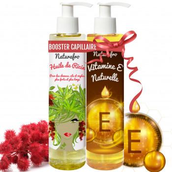 Huile de ricin et huile de vitamine E