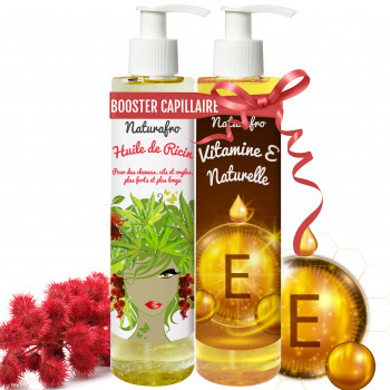 Duo booster capillaire huile de ricin et huile de vitamine E