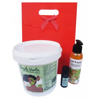 Pack masque pour peau grasse  et anti points noirs 100 % naturel et fiche recette gratuite à télécharger
