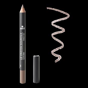 Crayon sourcils châtain clair certifié bio - Avril