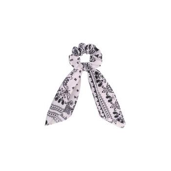 Chouchou foulard vintage noir et blanc