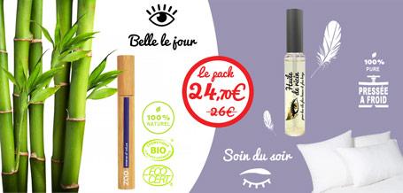 Huile de ricin cils + le mascara 100% naturel