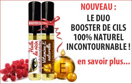 Huile de ricin cils + huile de vitamine E en mascara pour booster les cils