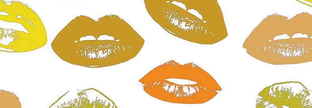 Trace de rouge à lèvre, couleur huile de ricin